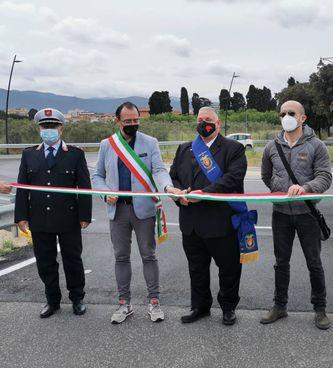 Da sinistra. Bartoli, il sindaco Benini, il presidente Vivarelli Colonna. e Biagioni