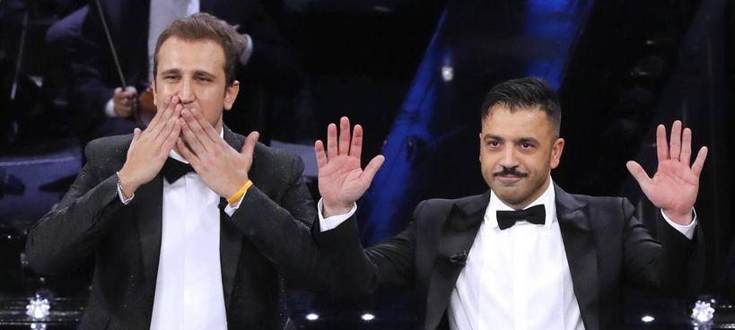 """Pio D'Antini e Amedeo Grieco, entrambi foggiani, 38 anni,. protagonisti su Canale 5 delle tre puntate di """"Felicissima sera"""""""