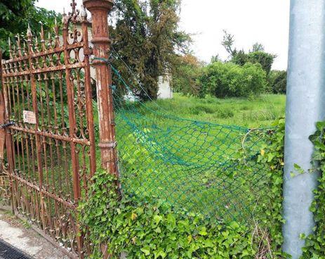 Uno scorcio del giardino: il tempo passa, l'immobile ne risente