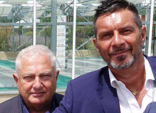 Il ds Dolci insieme all'ormai ex presidente arancione, Orazio Ferrari