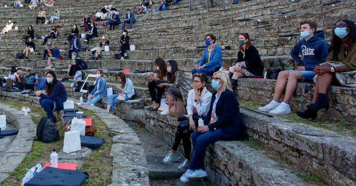 Il teatro Romano di Fiesole durante l'ultima giornata dell'evento