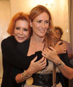 Marina Ripa di Meana, scomparsa nel 2018 a 77 anni, con la figlia Lucrezia Lante Della Rovere, 55 anni