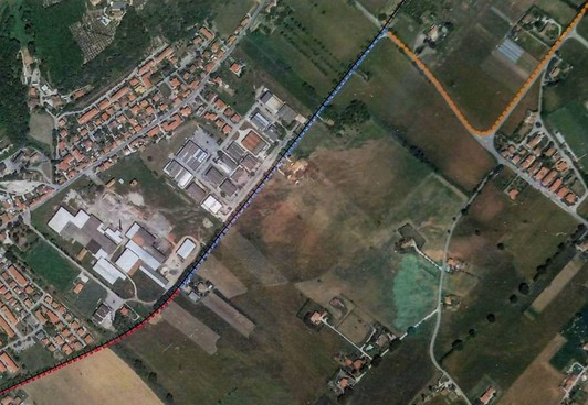 Un tratto di quello che potrebbe essere il nuovo percorso nella zona di Rosciano
