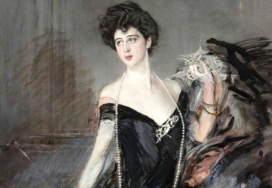 Franca Florio (1873-1950) nel celebre ritratto di Giovanni Boldini