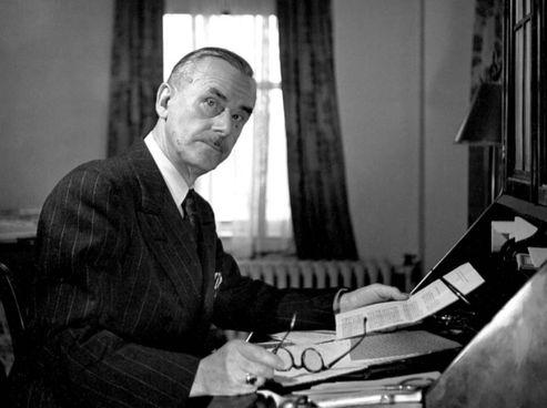 Thomas Mann (1875-1955), premio Nobel per la Letteratura nel 1929. Lasciò la Germania all'avvento del nazismo