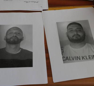 Le foto segnaletiche dei fratelli Juan Carlos e Francesco Spada, 31 e 34 anni, arrestati a Ostia