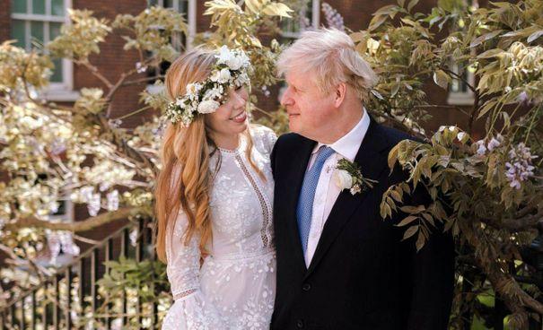 Il matrimonio tra Carrie Symonds, 33 anni, e il premier britannico Boris Johnson, 56 anni, nella cattedrale di Westminster