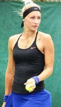 La tennista russa Yana Sizikova, 26 anni e numero 101 del ranking