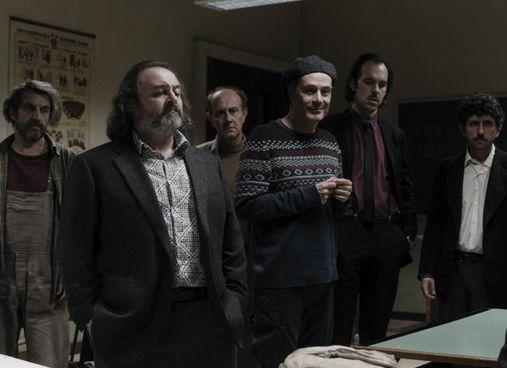 """Natalino Balasso con Ale e Franz e il cast del nuovo film """"Comedians"""" di Gabriele Salvatores"""