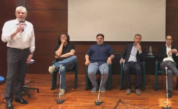 Alla serata hanno partecipato Giuliano Tamagnini, Enzo Merlini, Alfredo Zonzini, il Segretario Teodoro Lonfernini e rappresentati dell'opposizione