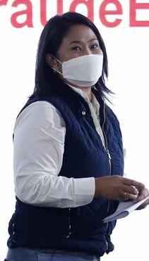 La candidata conservatrice Keiko Fujimori, 46 anni