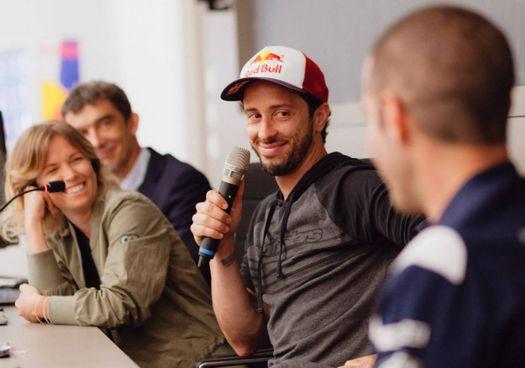 Andrea Dovizioso, 35 anni, ospite ieri della Facoltà di Ingegneria dell'Università di Bologna