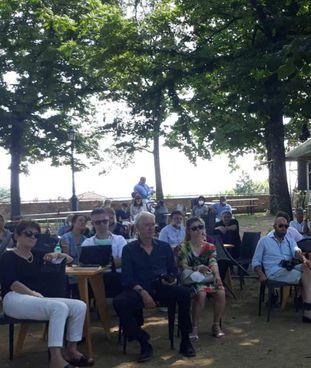 Un momento della cerimonia del premio letterario Città di Siena nell'ambito di ViviFortezza