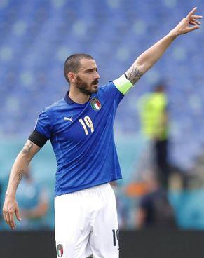 Leonardo Bonucci, 34 anni, capitano dell'Italia in assenza dell'infortunato Giorgio Chiellini che non dovrebbe nemmeno andare in panchina sabato a Wembley