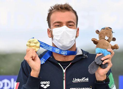 Gregorio Paltrinieri, 26 anni, oro alle Olimpiadi di Rio sui 1.500 metri