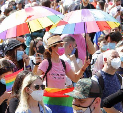 Una manifestazione contro le discriminazioni sull'orientamento sessuale del maggio scorso