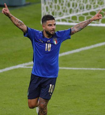Lorenzo Insigne, 30 anni: giocò appena mezzora con Ventura nella doppia sfida contro la Svezia che ci costò il mondiale 2018. Mancini lo ha rilanciato