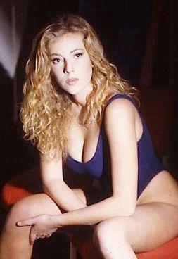 Alessia Marcuzzi a inizio carriera