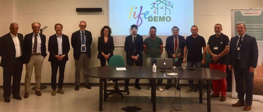 La presentazione del progetto «Life Demo» all'area della ricerca del Cnr di Pisa
