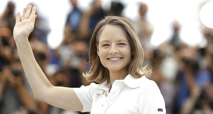 """Jodie Foster: l'attrice americana, 58 anni, Palma d'Oro d'onore, ha tenuto ieri a Cannes la sua. """"masterclass"""""""
