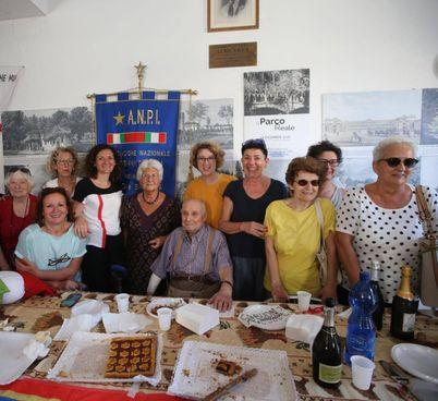 Egeo Mantovani 2 anni fa all'ultimo festeggiamento in presenza al circolo Anpi