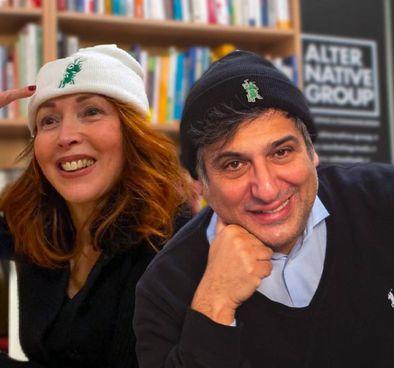 Eleonora Novelli Gazzotti, ideatrice dell'iniziativa, e Luigi Zanolio, la 'mente creativa'