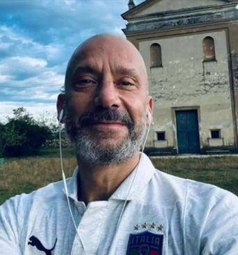Gianluca Vialli in pellegrinaggio al Santuario della Beata Vergine della Speranza