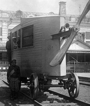 L'Aerowagon sovietico, presentato il 24 luglio 1921 sulla tratta Mosca-Tula