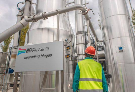 Un impianto a biogas di Hera