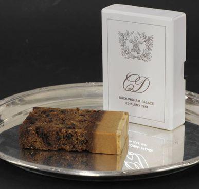 La fetta della torta nuziale di Carlo e Diana all'asta