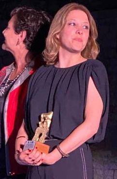 Cristina Puccinelli con il suo premio