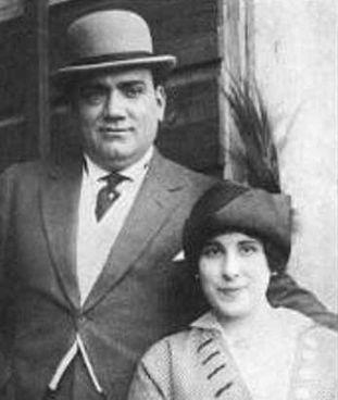 Enrico. Caruso (1873-1921) con Ada Giachetti Botti (1874-1946)