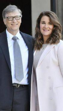 Bill Gates, 64 anni con l'ormai ex moglie Melinda (56)