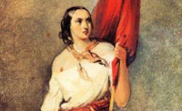 «Allegoria della Rivoluzione: Anita Garibaldi», di Johann Moritz Rugendas (1802-1858), pittore tedesco celebre per i suoi dipinti realizzati in America latina