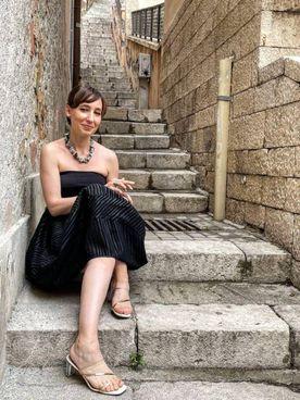 Laura Imai Messina ritratta al Taobuk di. Taormina nel giugno scorso (immagine Facebook)