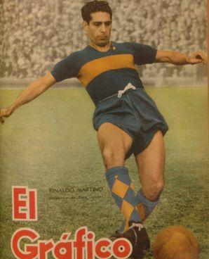 Rinaldo Martino (1921-2000), calciatore italo-argentino con la maglia del Boca Juniors