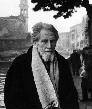 Ezra Pound (1885-1972) a Venezia in uno scatto del 1963