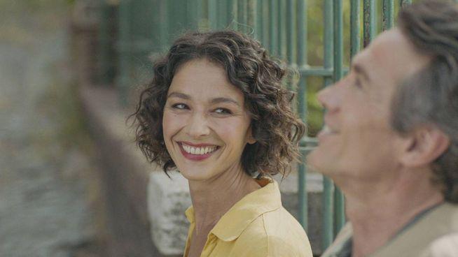 Nicole Grimaudo (nei panni di Rossana Podestà) e Alessio Boni (Walter Bonatti)