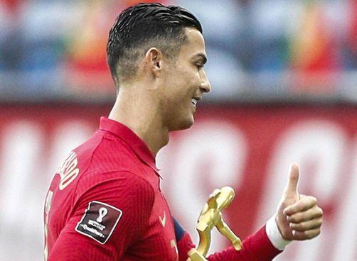 Cristiano Ronaldo, 36 anni, ieri sera ha segnato il gol numero 111 col Portogallo