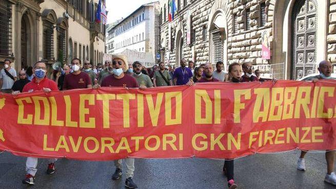Proteste dei lavoratori della Gkn
