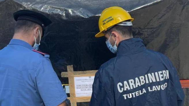 Carabinieri e Ispettorato del lavoro pongono i sigilli alla struttura