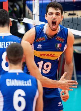 Daniele Lavia, schiacciatore di Trento, tra i migliori anche ieri in azzurro