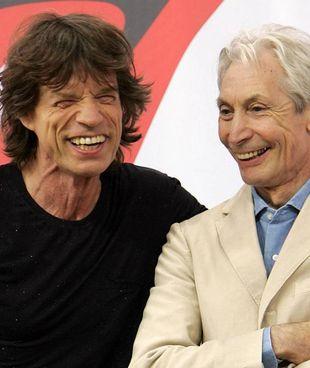 Mick Jagger (78 anni) con Charlie Watts, morto il 24 agosto a 80 anni