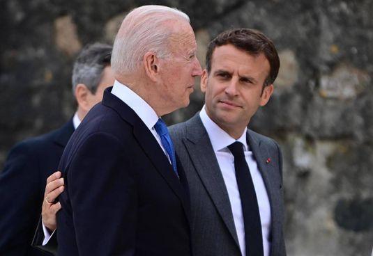 Il presidente. Joe Biden, 78 anni, con l'omologo francese. Emmanuel Macron, 43 anni