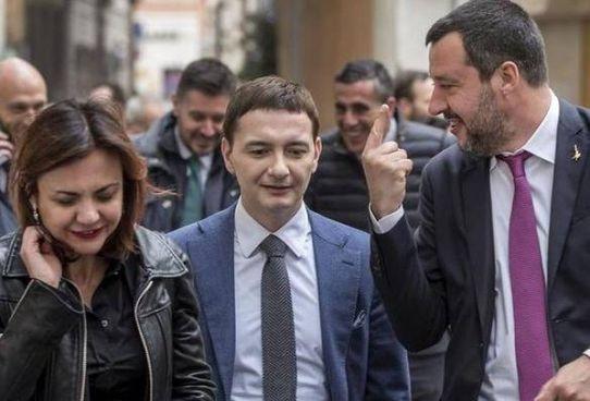 Luca Morisi, 47 anni, con il leader del Carroccio Matteo Salvini, 48 anni