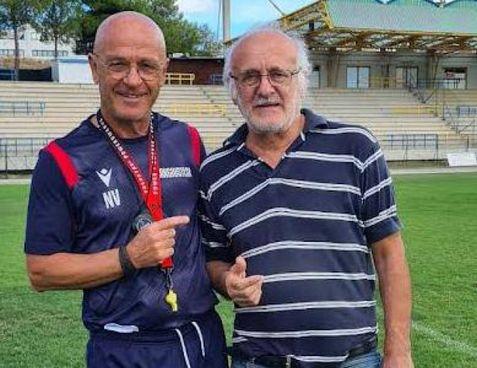 L'allenatore Nello Viti con il diesse Egidio Papi