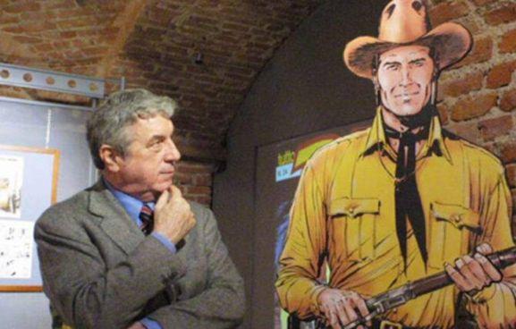 Sergio Bonelli (1932-2011) con Tex, personaggio simbolo della casa editrice