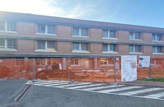 Il cantiere dell'ospedale San Sebastiano a Correggio