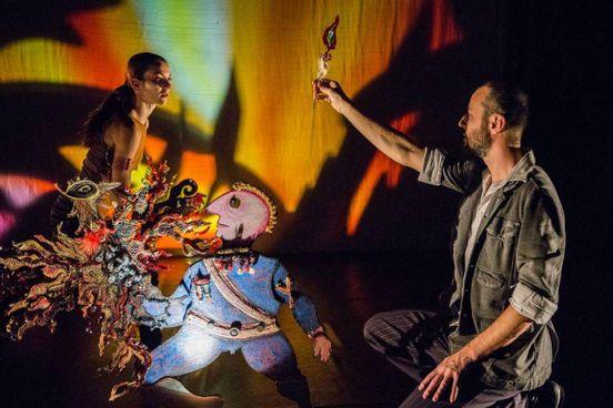 """L'Uccello di fuoco è uno dei lavori più importanti e di successo di Teatro Gioco Vita. Lo spettacolo di ombre e danza è costruito sul """"racconto"""" di Stravinsky"""