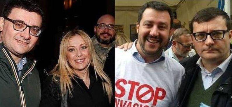 Roberto Jonghi Lavarini, 49 anni, ieri ha postato su Instagram due foto che lo ritraggono in compagnia di Giorgia Meloni, 44 anni, e Matteo Salvini, 48
